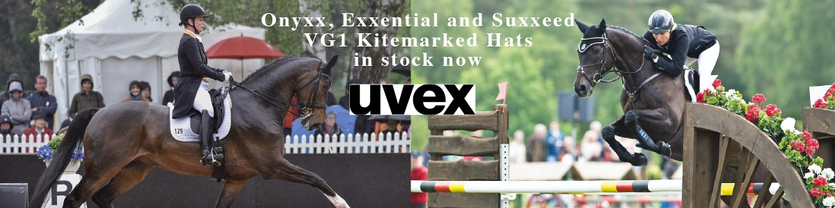 Uvex Onyxx, Exxential and Suxxeed Riding Hats in store now