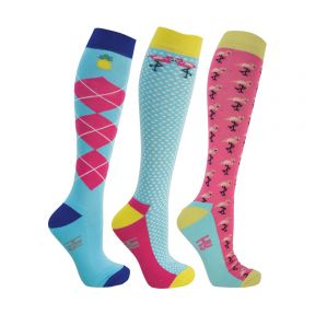 HyFashion Flamingo Socks (3 Pack)