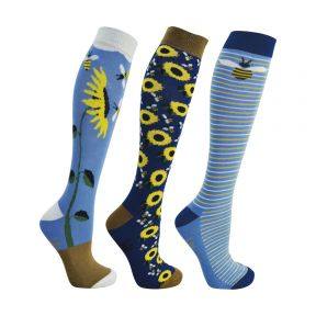 HyFashion Sunflower Socks Pack of 3