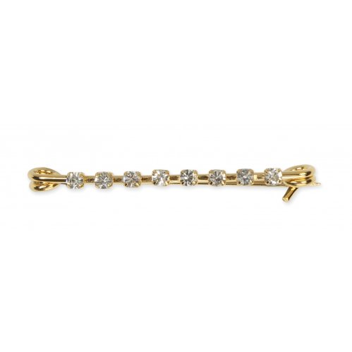 Shires Plated Stock Pin - Gold with Diamante