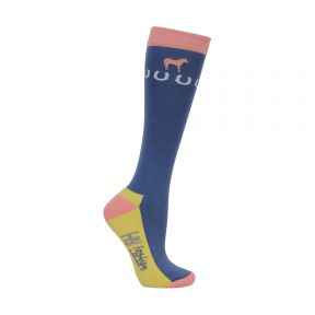 Hy Newmarket Horse Print Socks Pack of 3