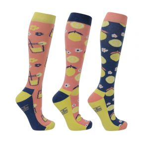 Hy Fruity Lemon Socks Pack of 3